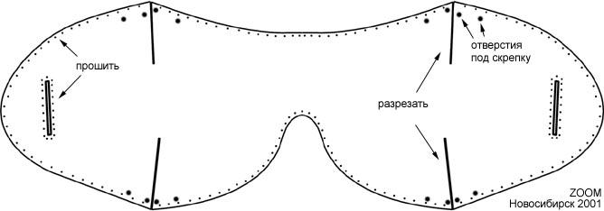 Трафарет круглых очков 3D | Трафареты для 3D-ручки | 234x668